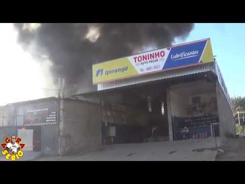 Incêndio destrói Loja de Auto peças do Mineiro na entrada da Cidade de Juquitiba