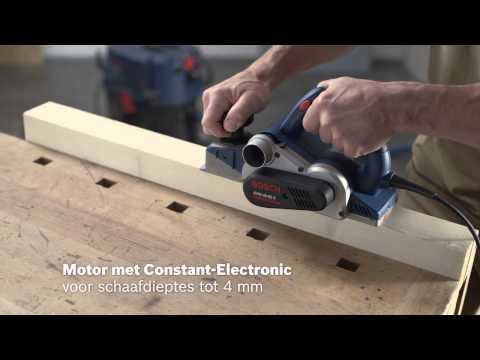 Bosch Schaafmachine GHO 40-82 C Extra mes, parallelgeleider, sponningdiepteaanslag, stofzak