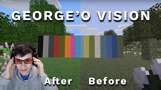 George's POV: Minecraft, But I'm Not Colorblind Anymore...   An Approximation