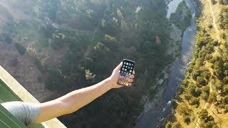 iPhone X vs Tallest Bridge 1000 FT. Drop Test - What Will Happen?