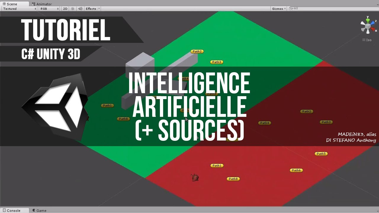 [C#][TUTO FR] Unity - Intelligence Artificielle (Path + sources)