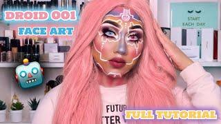 DROID 001 MAKEUP TUTORIAL || FACE ART!!