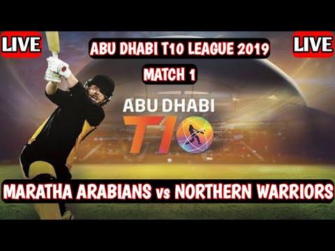 Northern Warriors vs Maratha Arabians Live 🔴 MAR vs NOR Abu Dhabi T10 Live
