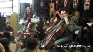 Apocalyptica - Hall of the Mountain King - Live - Acoustic Show - Scrape Records - 2012 - Van, BC