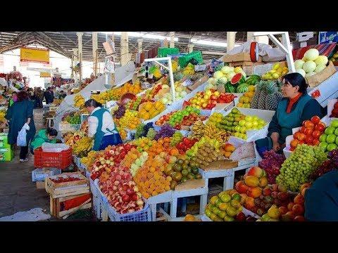Peru Local Market STREET FOOD Tour of San Pedro Market in Cusco