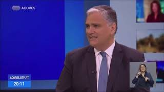 11/03/2020: Vasco Cordeiro explica Estado de Alerta dos Açores para o Covid-19, em Entrevista à RTP/Açores
