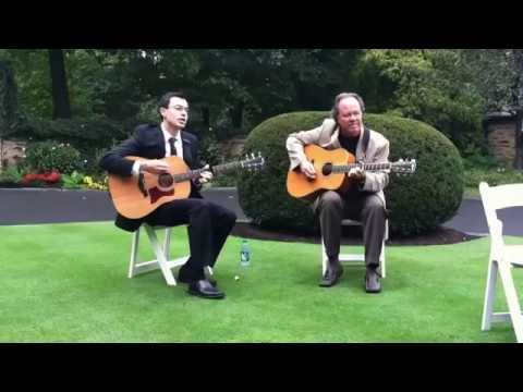 "Live cover of The Beatles classic ""Here Comes the Sun"" with seasoned guitarist Jerry Curran. Wedding ceremony outside Philly, October 2011."