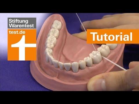 Tutorial: Zahnseide richtig anwenden, Zahnzwischenräume schonend reinigen
