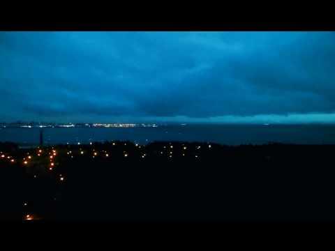Рассвет и закат над Парком 300-х летия Санкт-Петербурга (видео)