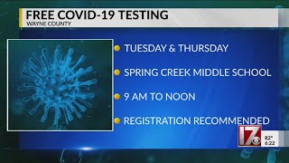 Wayne County to offer free COVID-19 testing this week