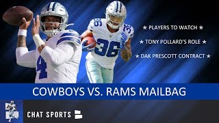 Cowboys Vs. Rams: Players To Watch Ft. Tony Pollard + Rumors On Dak Prescott's Contract | Mailbag