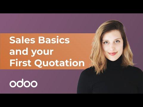 Verkaufsgrundlagen und Ihr erstes Angebot | odoo Verkauf