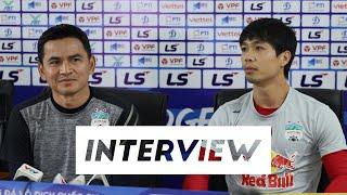 Interview   HLV Kiatisuk và Công Phượng trả lời họp báo trước trận Viettel - HAGL   HAGL Media