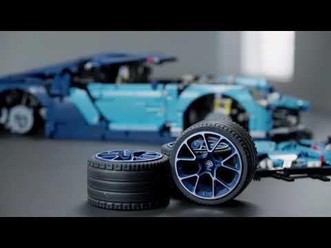 Bugatti Chiron Lego Technic product launch video