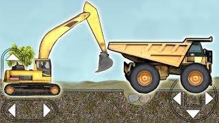 Мультфильмы про строительные машинки, супер прохождение игры на андроид Construction Tasks