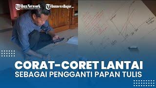 Viral Video Dosen Coret-coret Lantai sebagai Pengganti Papan Tulis, Dilakukan saat Kuliah Online