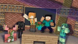 Monster School : Dance Boys And Girls   Minecraft Animation