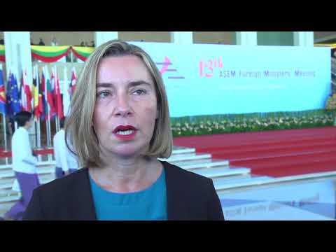 Mogherini attends the 13th ASEM in Myanmar