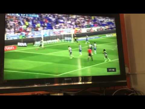 Espanyol vs Real madrid 0-2 Goal Cristiano Ronaldo 12/9/15