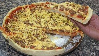 طريقة تحضير بيتزا ناجحة في البيت