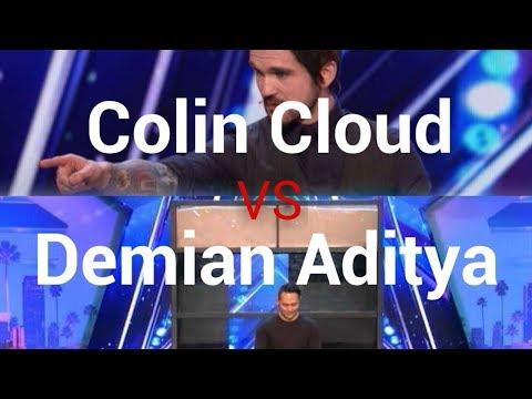 Demian Aditya VS Colin Cloud? On America's Got Talent 2017 (видео)