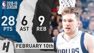 Luka Doncic CLUTCH Highlights Mavericks Vs Blazers 2019.02.10 - 28 Pts, 6 Ast, 9 Rebounds!