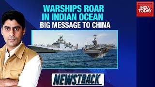 India Conducts Naval Exercise With World Largest Warship USS Nimitz In Indian Ocean - Download this Video in MP3, M4A, WEBM, MP4, 3GP