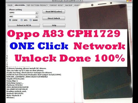 Oppo A83 2018 Cph-1729 Firmware Version A22 Flash Unlock Frp Phone