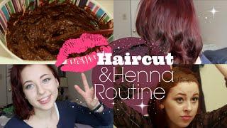 FULL Henna/Haircut Routine (Burgundy)
