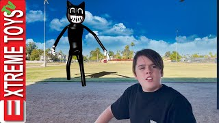 Cartoon Cat is on the Loose! The Crazy Feline Haunts and Attacks Ethan and Cole!!