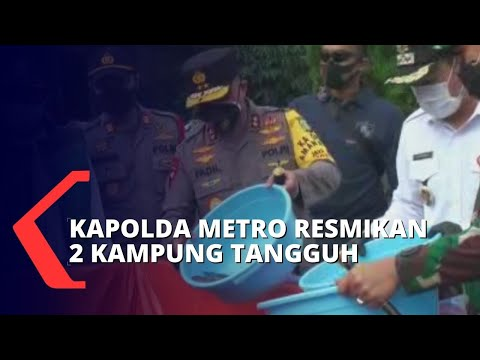 Irjen Fadil Imran Meresmikan Kampung Tangguh Jaya di Tangerang