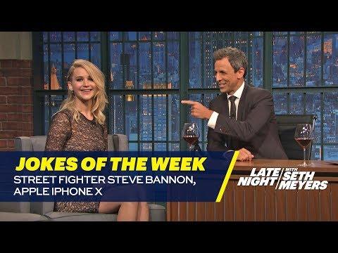 Seth's Favorite Jokes of the Week: Street Fighter Steve Bannon, Apple iPhone X