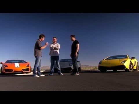 Lamborghini drag-race | Top Gear USA
