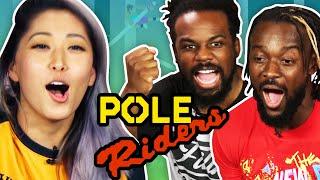Pole Riding with WWE's New Day (Xavier Woods & Kofi Kingston)