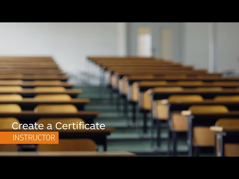 Awards - Create a Certificate - Instructor - YouTube