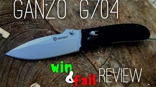 Ganzo G704  Inexpensive Folding Knife - Win and Fail review