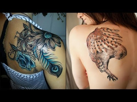 Colorful Back Shoulder Tattoo Design Collections || Tattoo Designs For Women Mp3