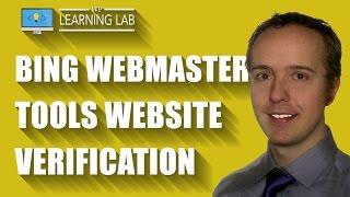 Bing Webmaster Tools Verification Using Meta Tags & WordPress SEO by Yoast   WP Learning Lab