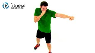 Fat Blasting At Home Cardio Kickboxing Workout Video by Fitness Blender by FitnessBlender