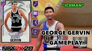 *ICEMAN* Galaxy Opal George Gervin TTO Gameplay! They Finally Gave Him RANGE EXTENDER! NBA 2k20