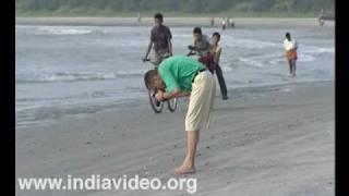 Taking snaps at Muzhapilangad beach