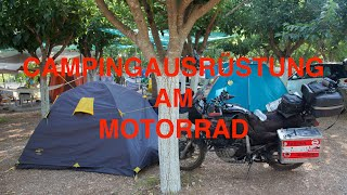 Camping Equipment für Motorrad Reisen