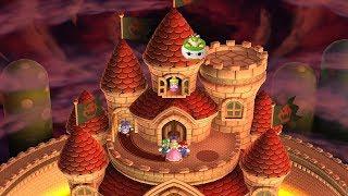 New Super Mario Bros U Deluxe - All Final Castles (4 Player)