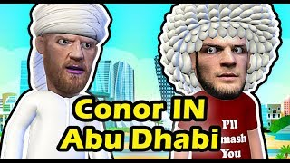 Conor McGregor in Abu Dhabi Distracting Khabib