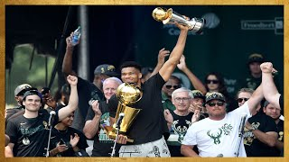 Best Moments from the Milwaukee Bucks 2021 NBA Championship Parade! 🏆