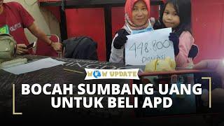 Kisah Inspiratif, Tiga Bocah SD di Makassar Sumbangkan Seluruh Isi Celengan untuk Pembuatan APD