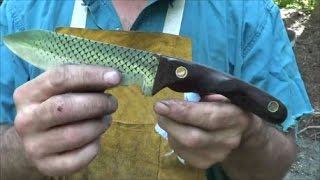 Blacksmithing Knifemaking - Forging A Rasp Chopper Knife From A Farrier's Rasp - Part 1