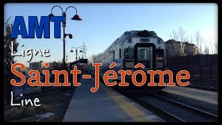 preview picture of video 'Chasing the Sun - AMT ligne St-Jerome line'