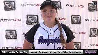 2024 Hailey Permenter Third Base and Outfield Softball Skills Video - Ca Grapettes McNair
