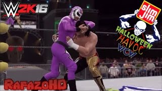 WWE 2K16 Simulation: Rey Mysterio Jr. vs Eddie Guerrero - Halloween Havoc 1997 Highlights